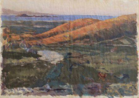 Fugacidad del tiempo · Mirada lenta - Acriiilico y collage en papel de periooodico - 57x79cm
