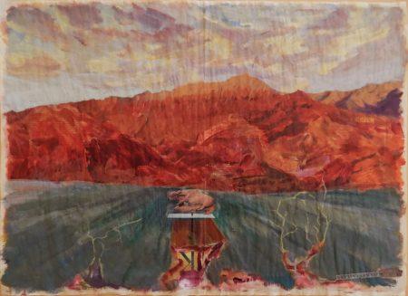 Kunst · Natur - Acriiilico y collage sobre papel de periooodico - 57x79cm