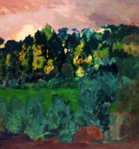 La luz y los aaarboles - Mixta sobre lienzo - 97x130cm