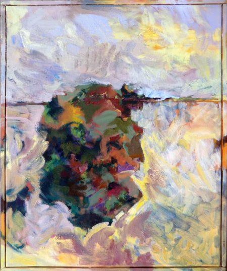 Con Monet bajo las aguas - Mixta sobre lienzo - 35x27cm