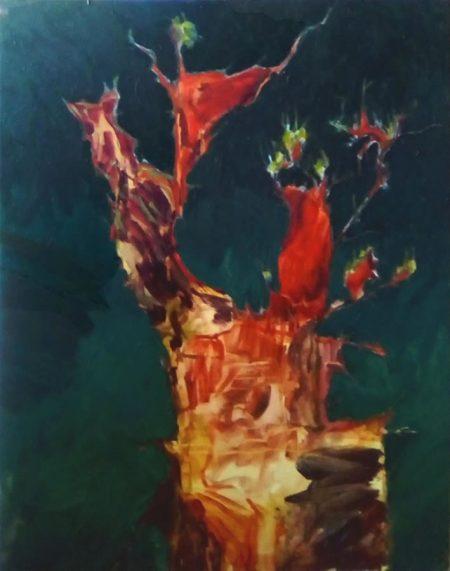 Creatura arbooorea - Acriiilico sobre lienzo - 92x73cm