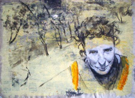 Mujer de mundo - Acriiilico sobre papel de periooodico - 42x57cm