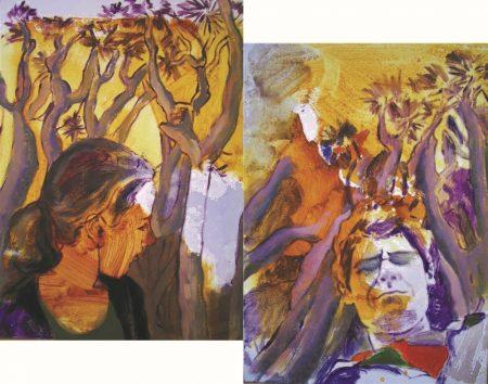 Dos bajo los dragos - Acriiilico sobre lienzo - 52x67cm