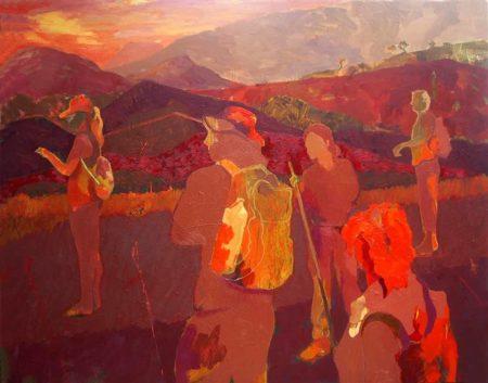 Contemplación - Mixta sobre lienzo - 116x146cm