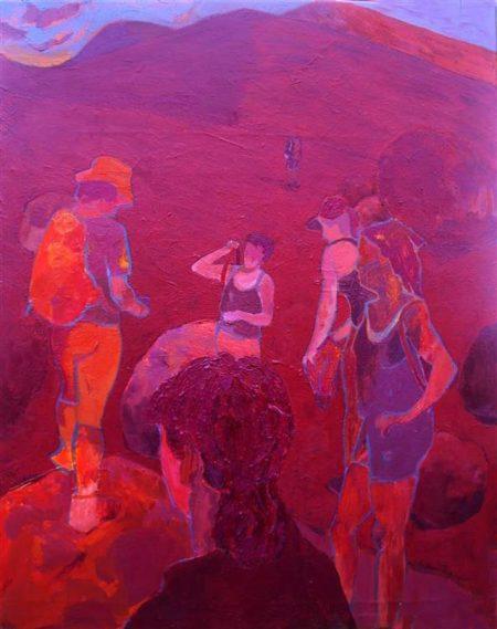 Caminantes - Mixta sobre lienzo - 73x92cm