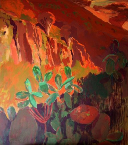 Paisaje con dragos - Acriiilico sobre lienzo - 146x116cm