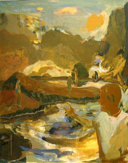 Los buscadores de oro - Acriiilico sobre lienzo - 146x116cm