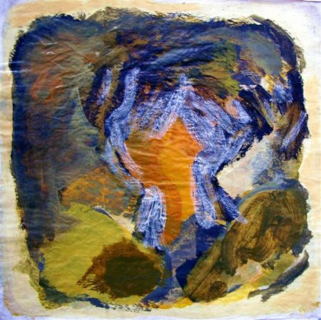 CuadroDo ·· Corazón insular - Acrílico sobre papel - 41x41cm