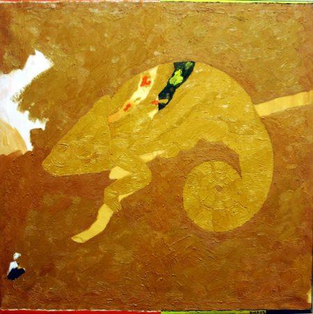 CuadroDo ·· Chameleon painting - Óleo sobre lienzo - 65x65cm