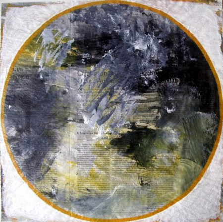 Peephole ·· Paisaje cósmico - Acrílico sobre papel - 41x41cm