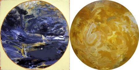 Peephole · Circle - Acriiilico sobre papel y cartooon - 75x150cm