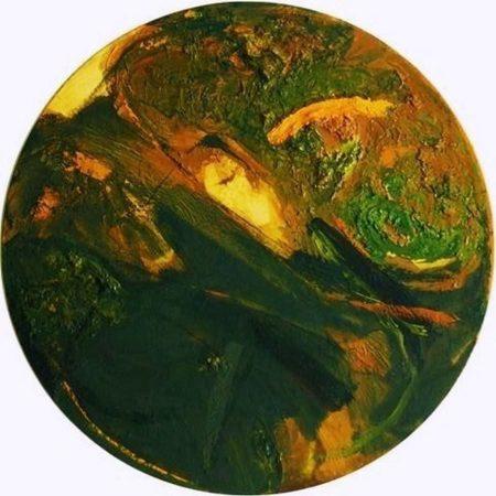 Circle · Pintura Verde - OOOleo sobre lienzo - d60cm