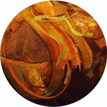 Circle · Pintura Naranja - OOOleo sobre lienzo - d60cm