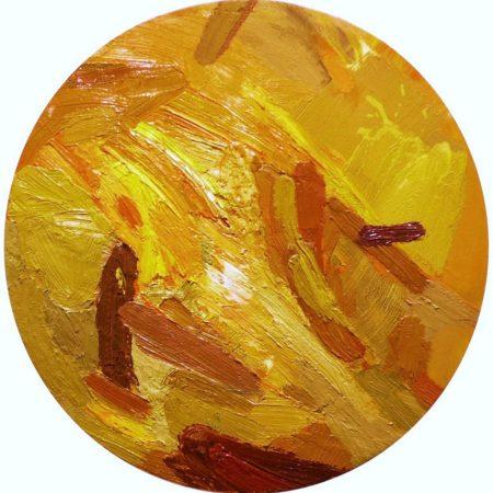 Circle · Pintura Oro - OOOleo sobre lienzo - d40cm