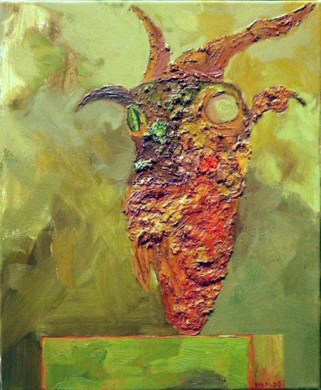 Creatura 5 - OOOleo sobre lienzo - 46x33cm