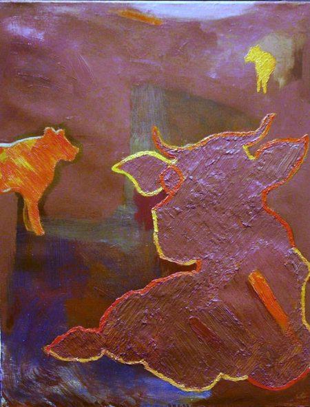 Creaturas 1 - OOOleo sobre lienzo - 65x50cm