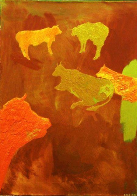 Creaturas 2 - OOOleo sobre lienzo - 65x46cm