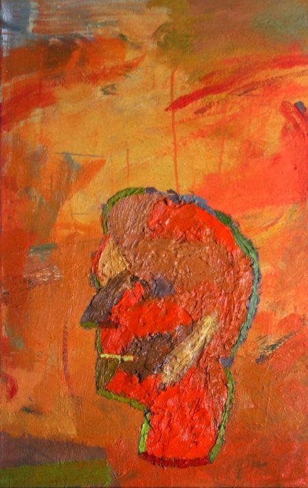 Autrorretrato en un mundo primitivo - OOOleo sobre lienzo - 65x41cm
