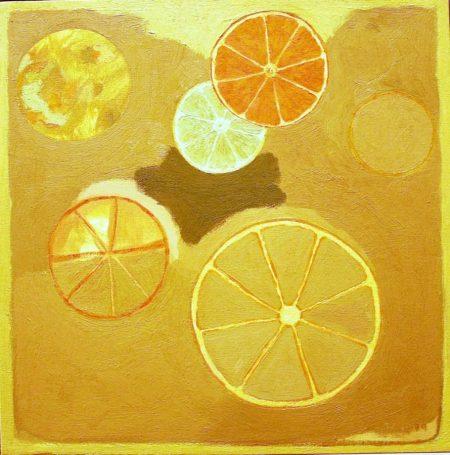 CuadroDo · Ciiirculos · Naranjas y limones - OOOleo sobre lienzo - 41x41cm