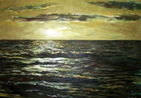 Mar y noche 2 - OOOleo sobre lienzo - 46x65cm