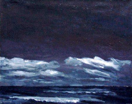 Noche de luna - OOOleo sobre lienzo - 73x92cm