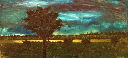 Árbol y noche - OOOleo sobre lienzo - 30x65cm