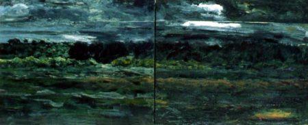 Las noches negras - OOOleo sobre lienzo - dipt-73x120cm