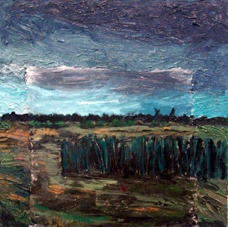 Espacios en la noche - OOOleo sobre lienzo - 40x40cm