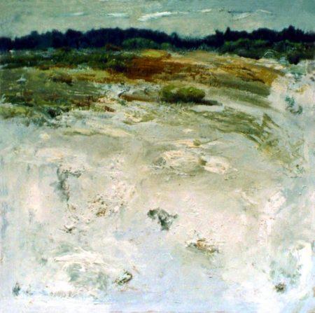 Horizonte-CuadroDo blanco - OOOleo sobre lienzo - 65x65cm