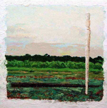 CuadroDo Pinceles Blanco y Negro - OOOleo sobre lienzo - 41x41cm
