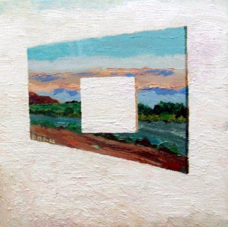CuadroDo Reflexiooon sobre el espacio - OOOleo sobre lienzo - 27x27cm
