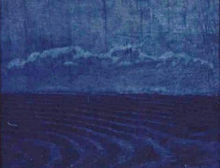 Noche de luna - Acriiilico sobre paleees -