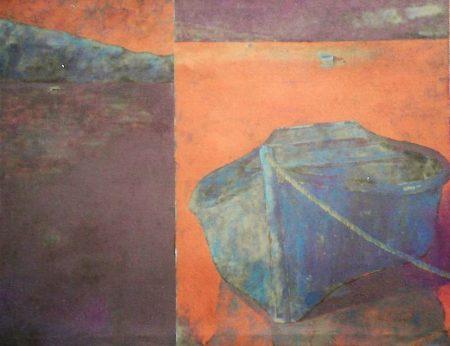 Barca en la noche - Acriiilico sobre lienzo - 97x130cm
