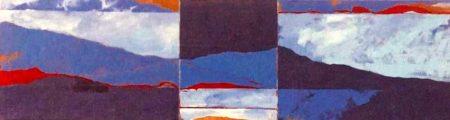 Variaciones en el paisaje - Acriiilico sobre lienzo - 33x114cm