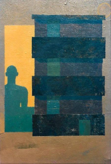Mi sombra - Acriiilico sobre lienzo - 22x27cm