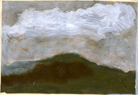 Montannna y nube