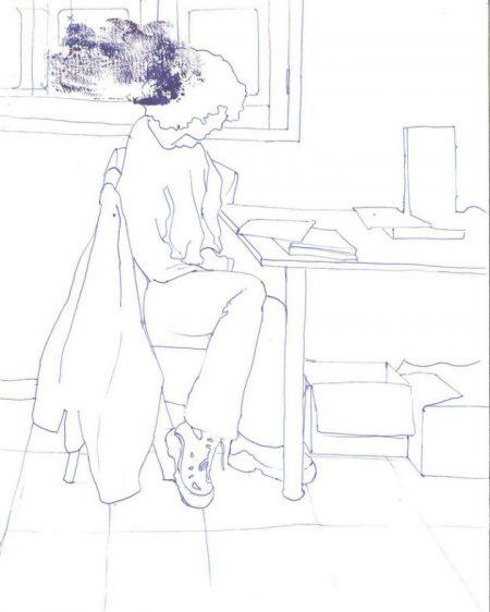 Ella dibuja