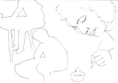 Ella dibuja 1